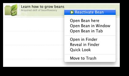 bean statuses 7